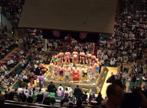 I watched Sumo wrestling