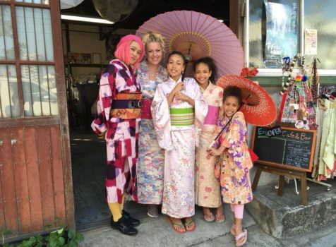 ◆Airbnb Kimono experience guest from Denmark◆