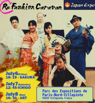 ◆RefashionCaravan had lesson for the show in JapanEXPO2018 Paris◆