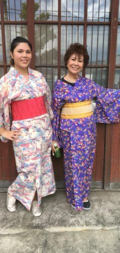 ◆Kimono experience guests on airbnb from Philippine◆