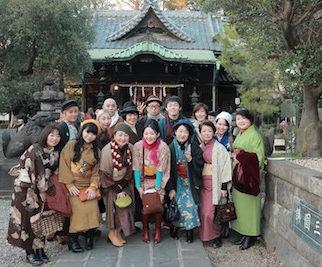 1月4日「カジュアルな着物を着てパワースポットへ」開催しました。