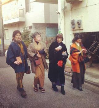 2月4日カジュアル着物で街歩き3回目♪