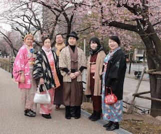 3月13日カジュアル着物で街歩き開催しました♪