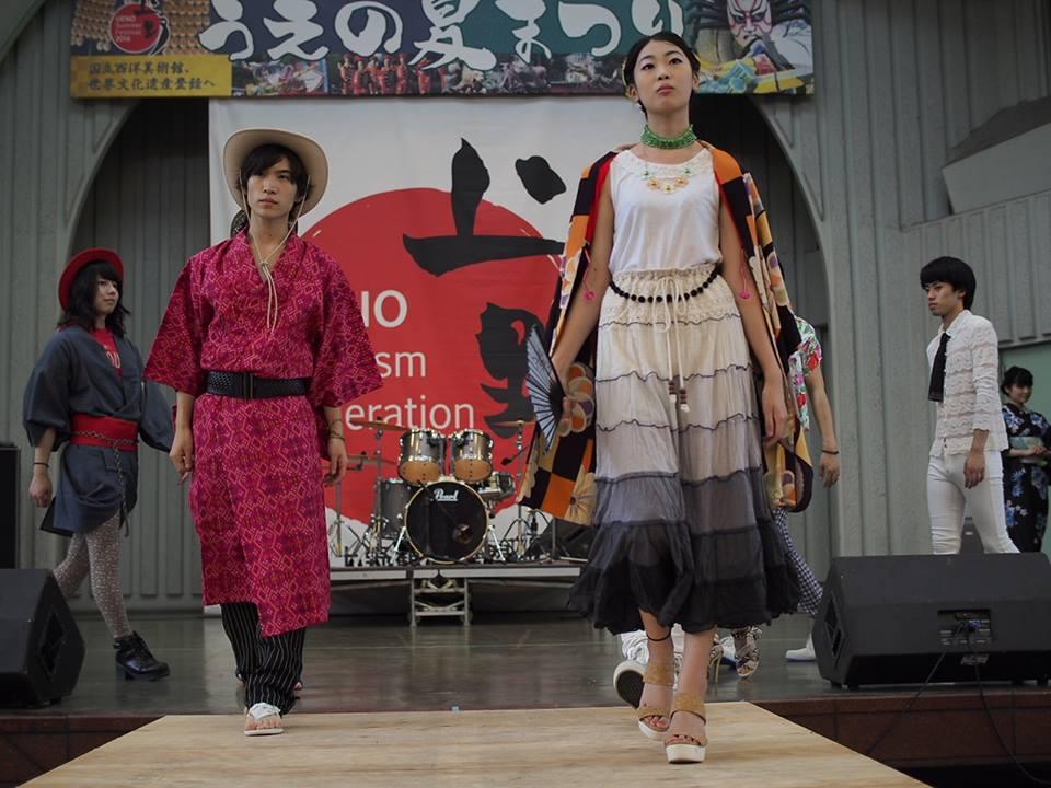 7月31日の「下町ミュージックフェストin NEXTUENOCOLLECTION」4ステージのファッションショー無事終了!