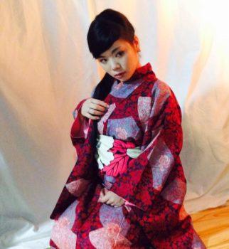 北斎着物ファッションショーの衣装合わせしました。