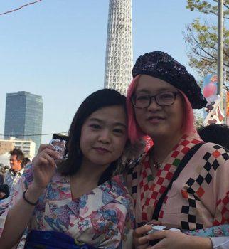 ◆桜の季節のAirbnbの着物体験のお客様◆