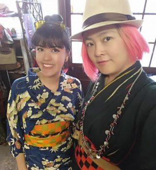 ◆今日のAirbnbの着物体験のお客様はフィリンピンの女の子◆