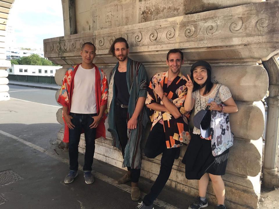 ◆パリに住む人に着物を着せて撮影もしました◆