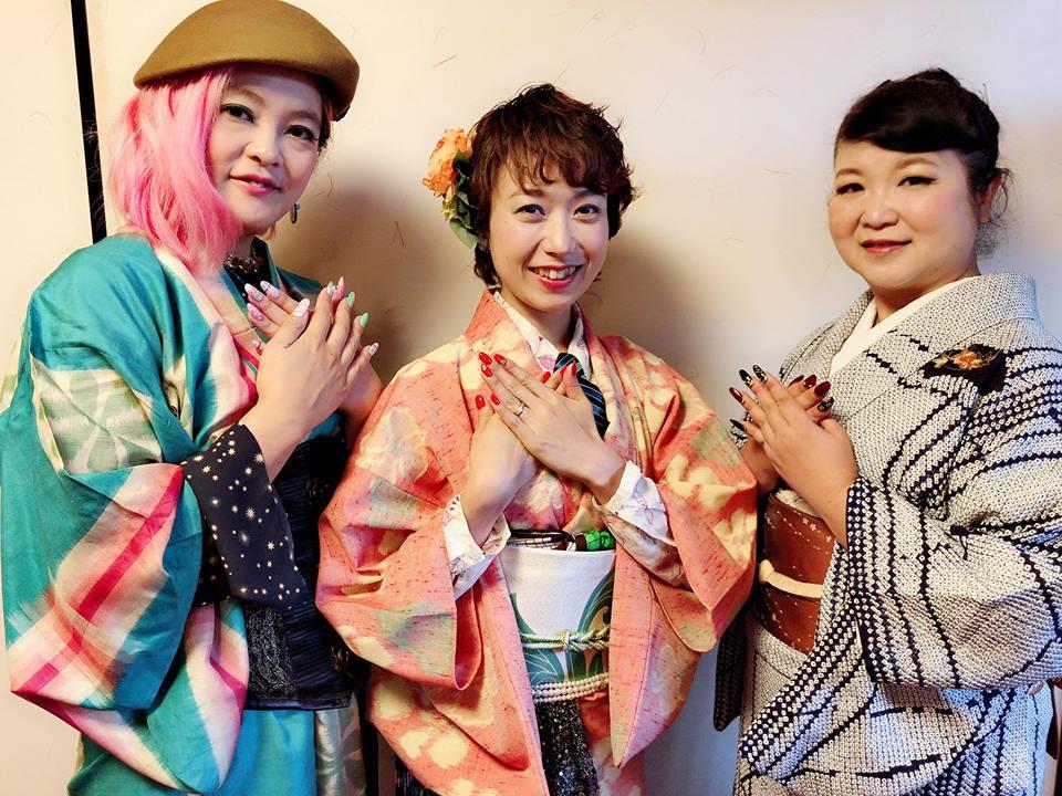 ◆北斎×着物 お寺でフェスは爪までフルコーデ!!!◆